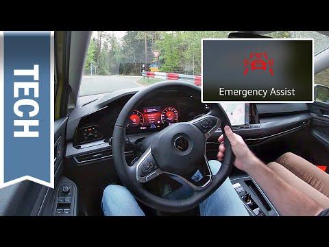 Emergency Assist im VW Golf 8 kurz gezeigt: Neuer Nothalteassistent im Test & Unterschiede Passat