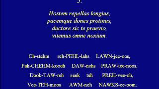 Veni Creator Spiritus-Latin Pronunciation