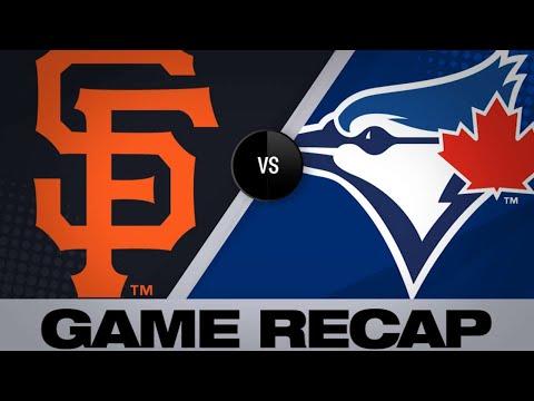 4/23/19: Giants slug 4 homers to top Blue Jays