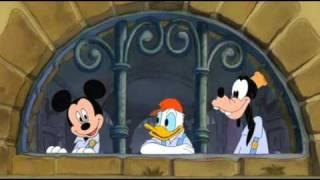 """Dessin animé Mickey: """"Un pour tous et tous pour un"""""""