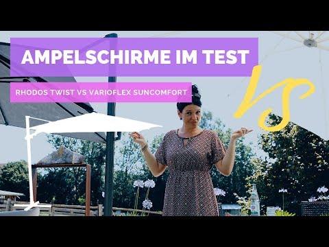 ☼ Ampelschirme im Test – Rhodos Twist von Schneider VS. Varioflex von Suncomfort