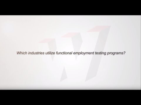 Which industries utilize functional employment testing programs?