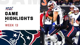 Patriots vs. Texans Week 13 Highlights | NFL 2019