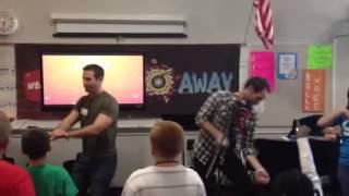 Pastor David dancing in breakaway!