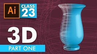 Adobe Illustrator - 3D in Illustrator Part One - Class 23 - Urdu / Hindi
