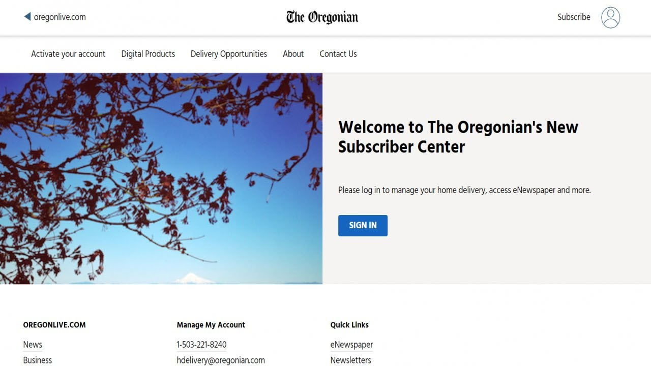 Oregonian newspaper delivery vacation hold