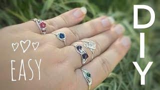 5 EASY Ways To DIY Wire Wrap Crystal Rings | Beginners Tutorial