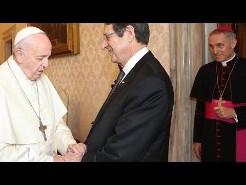 Συνάντηση Αναστασιάδη-Πάπα Φραγκίσκου στο Βατικανό