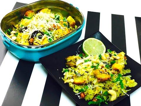 Quick Breakfast / Lunch Box Cabbage Bread Poha Video Recipe | Bhavna's Kitchen