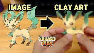 Leafeon  - (Pokémon) - Pokémon Clay Art: Leafeon Grass-type Pokémon!