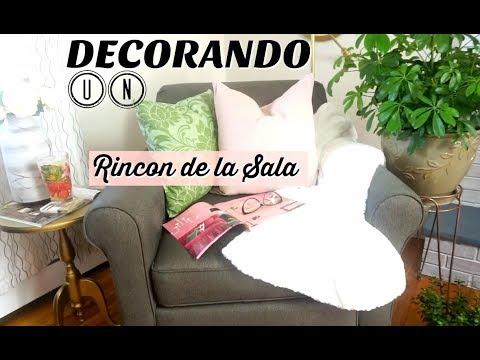 2  Ideas acogedoras y elegantes para decorar UN RINCON DE LA SALA ✪  HAZLO CON POCO DINERO
