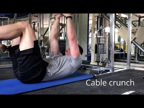 Core Training | Lying Cable Crunch | Rectus Abdominis Development