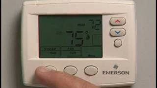 How to Operate a Emerson 1F80 Programmable Thermostat