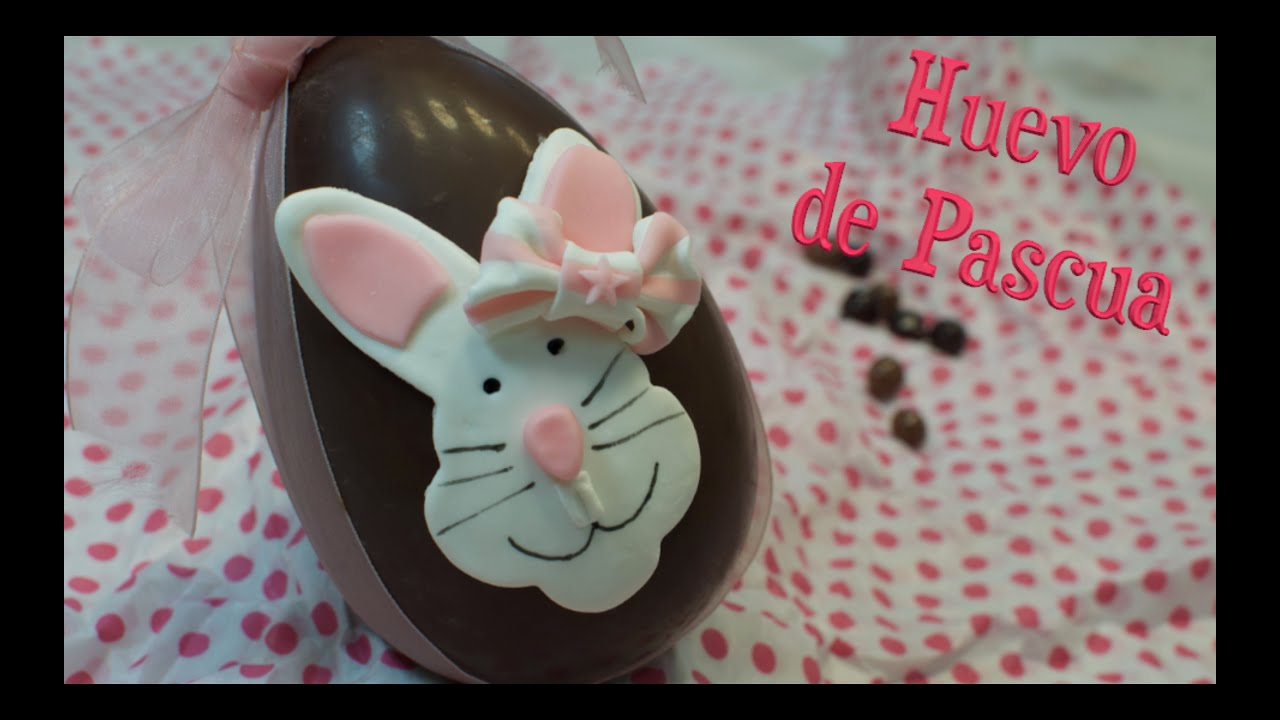 Huevo de Pascua | Conejo de Fondant | Como hacer huevo de Pascua | Huevos de Pascua
