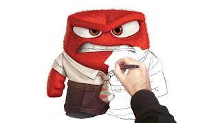 Inside out Anger digital painting how to draw Anger Disney's Inside Out