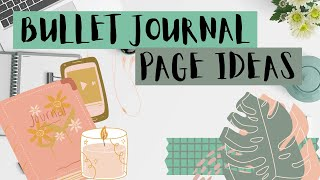 Things to write in your Bullet Journal / Ideas and Topics for Bullet Journal Pages