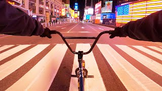 EXPLORING THE STREETS OF MANHATTAN AT NIGHT DURING COVID-19 LOCKDOWN (BMX)