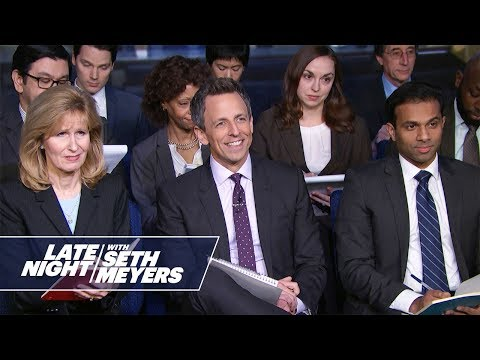 Late Night White House Press Briefing: Does the President Believe in Satan?
