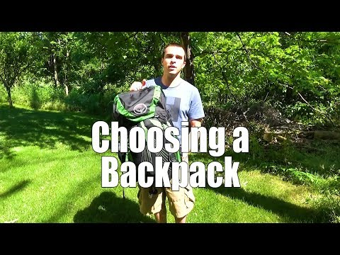 Beginner Backpacking Part 8 - Choosing a Backpack