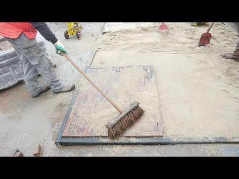 5 cm waaltjes verwerken met granulaat voor oprit