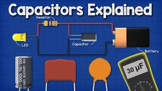 Capacitors Explained - The basics how capacitors work working principle