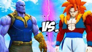THANOS VS GOGETA SSJ4 (Goku & Vegeta)