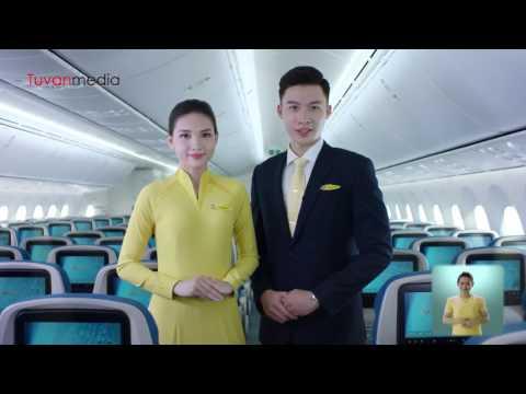 TVC Hướng dẫn an toàn bay - Vietnam Airlines safety 2017