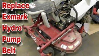 How To Change The Hydro Pump Belt On An Exmark Lazer-Z Zero Turn Mower - with Taryl