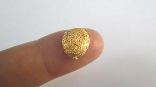 Плавим золотой осадок   золото из процессоров и радиодеталей