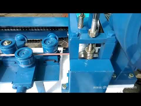 Copper Section Straightening With Cutting Machine