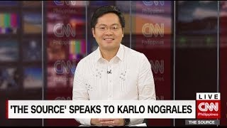 'The Source' speaks to Representative Karlo Nograles