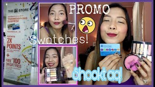 SM Advantage Thanksgiving Promo 2x Points | My new Makeup Products swatches