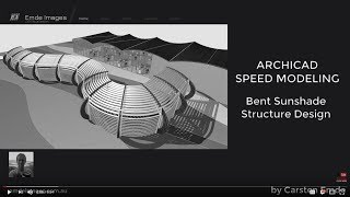 How to model a bent sunshade structure