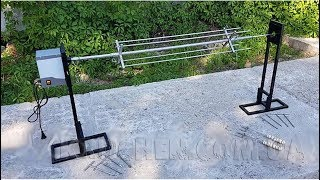Вертел с электроприводом до 25 кг на землю, кострище - Электропривод для вертела - Вертел - видео 1