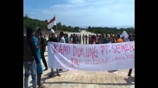 Warga Batee Demo di Lokasi Pembangunan Pabrik Semen