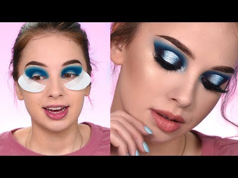Recreating The Look | Dramatic Blue smokey Eye Makeup Tutorial