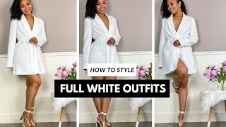How To Wear Full White Outfits For Short And Curvy Women | Petite Style Tips Ep. 4