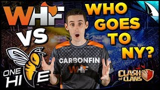 *MOST IMPORTANT WAR EVER!!* WHF vs OneHive - WINNER GOES TO NEW YORK!! | Clash of Clans