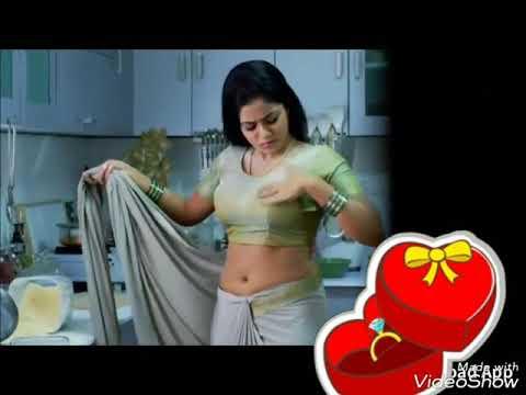 Saree navel video