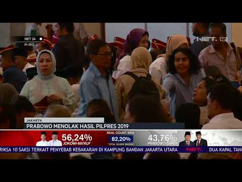 Prabowo menolak Hasil Pilpres 2019 - NET24
