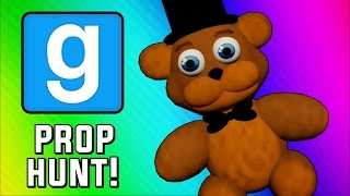 Gmod Prop Hunt Funny Moments - Five Nights at Freddy's Hax & Guarding the Queen (Garry's Mod)