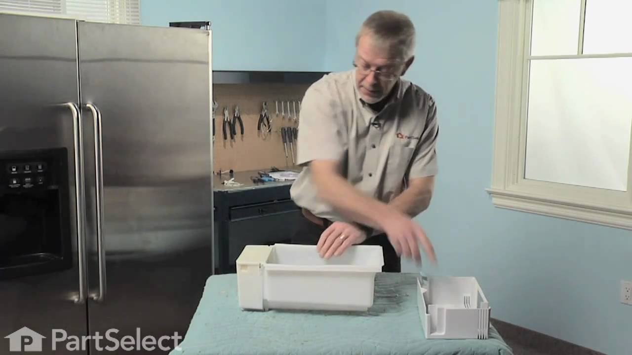 Replacing your General Electric Refrigerator Dispenser Crusher Cover