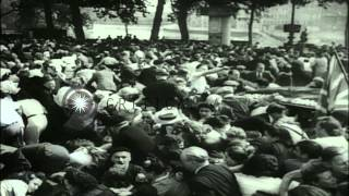 Snipers disrupt the official welcome ceremony for General Charles De Gaulle at Ho...HD Stock Footage