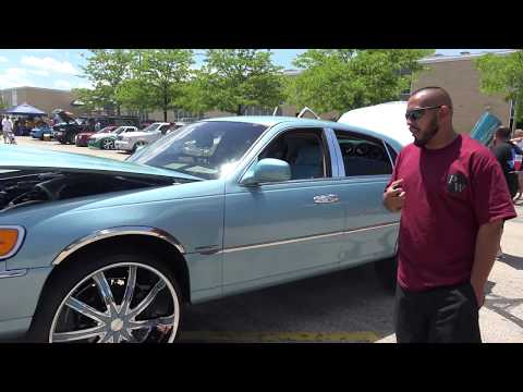 "Great Sound System Riding on 26"" RIMS  1998 Lincoln Towncar - Wheeling  High School Car Show"