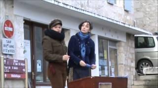 preview picture of video 'Cie Sputnik les crieuses sur le marché de Montcuq 11 01 2015'