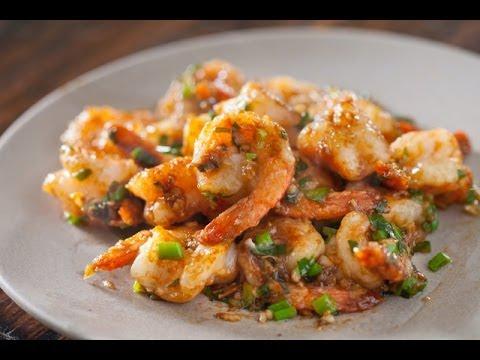 Video Garlic Ginger Shrimp Stir fry Recipe