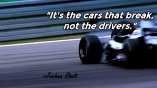 Смотреть онлайн Великие гонщики: архивные кадры с гонок и цитаты