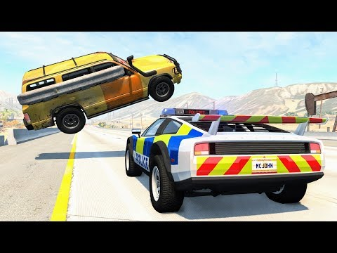 Crazy Police Chases #94 - BeamNG Drive Crashes