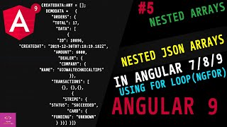 Nested Json Array in Angular 7/8/9    how to access nested json object in angular     nested json