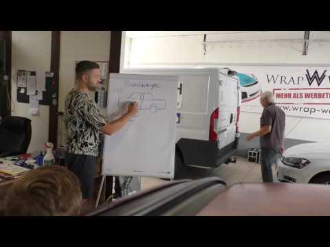 Theorie & Praxis bei einem Car Wrapping Kurs